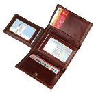 Augus Men's RFID Blocking Leather Trifold Wallet Credit Card Protection Wallet