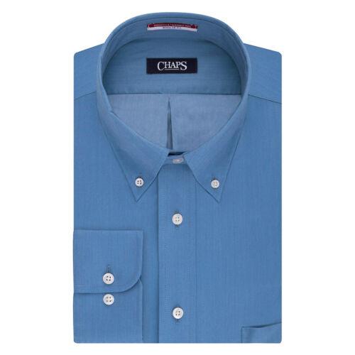 Chaps Dress Shirt Mens Big /& Tall Regular-Fit Long Sleeves Iron Free Button Down