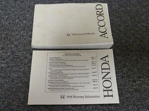 1998 honda accord sedan coupe owner owner s manual user guide book rh ebay com 1998 honda accord coupe ex owners manual 1998 honda accord ex service manual