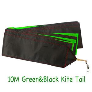 NEW-10M-32ft-Black-amp-Green-Kite-Tail-for-Single-Line-Kites-Delta-Kites-Outdoor