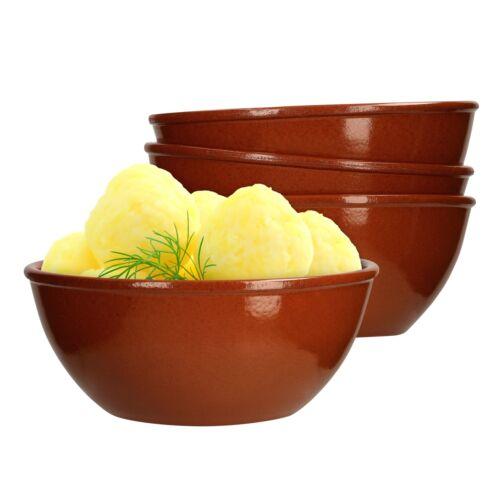 4er Set tonschale 18 cm marron 1 L Argile-Vaisselle Bol Salade Bol servierschale