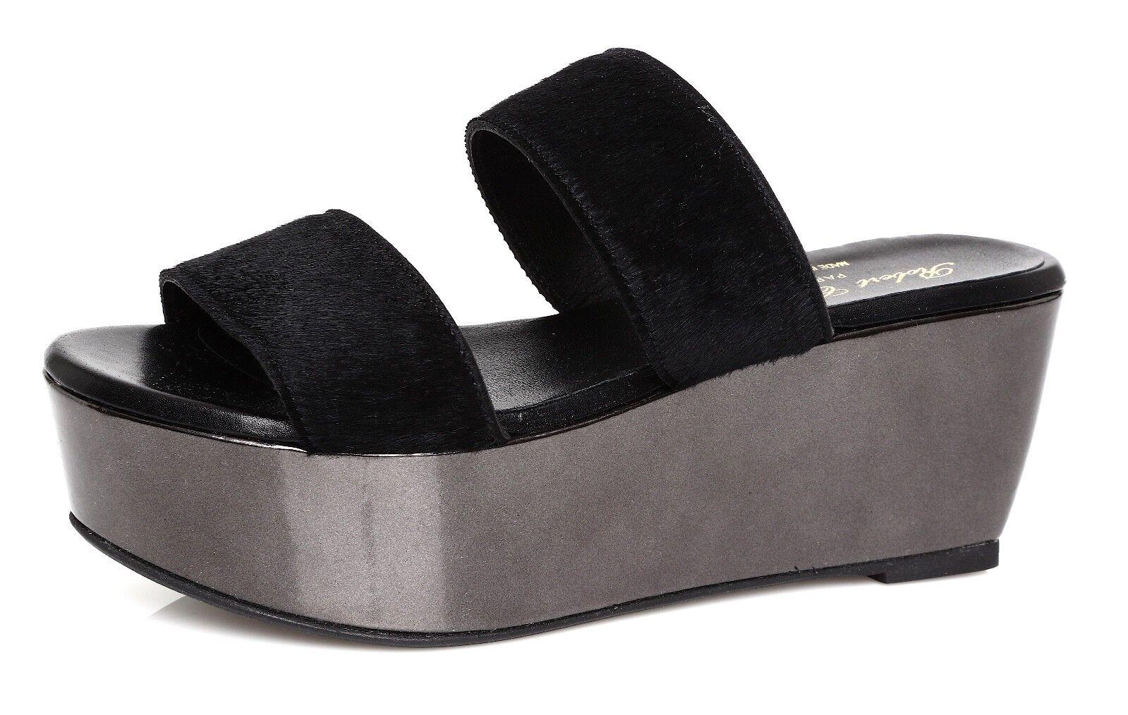 Robert Robert Robert Clergerie Frazzial Women's Black Sandals Sz 38 EUR 4272 ecdc37