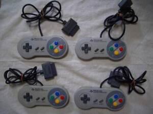 Nintendo-Super-Famicom-4-controller-set-SNES-SFC-Japan-F-S