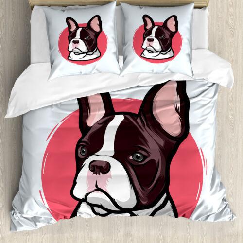 Tier Bettwäsche Set Französische Bulldogge HipsterWeicher Microfaserstoff
