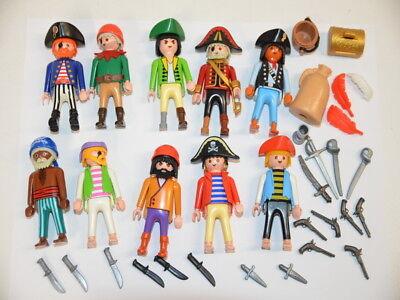 78 ) playmobil 10 figuren piraten mit zubehör waffen   ebay