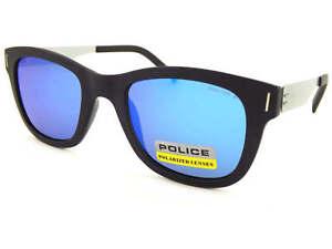 Police Polarisé Pari 2 Lunettes de Soleil Noir Mat Argent   Miroir ... d907943a2092