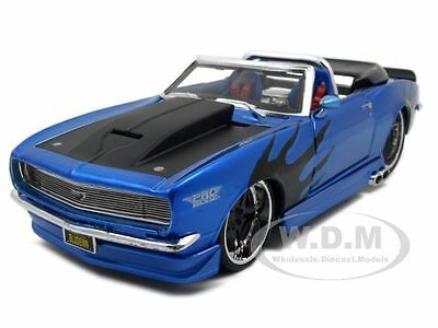 1968 CHEVROLET CAMARO SS CONVT BLUE 1:24 PRO RODZ MODEL CAR BY MAISTO 31089