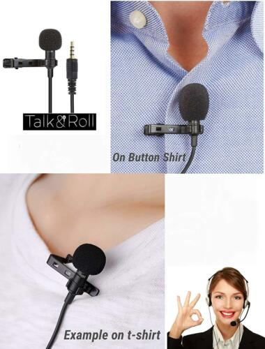 Lavalier Mic Microphone /& Case For IPhone Smart Phone Recording PC Clip-on Lapel