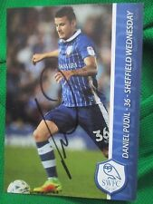Daniel Pudil Sheffield Wednesday Signed Football Photo Club Card