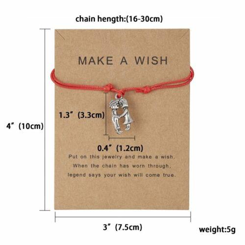 Make a wish Bracelet Multicolor Rope Adjustable String Lucky Bracelet Women Kids