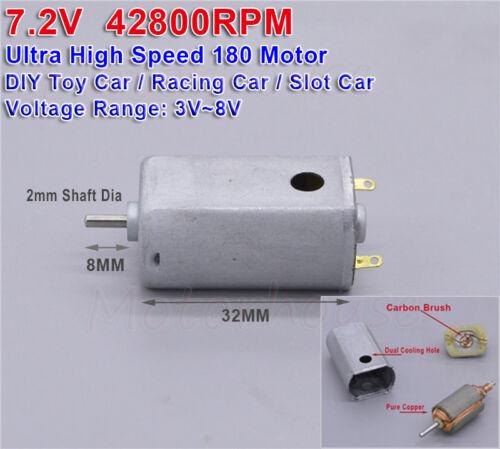 DC 3.7V 5V 6V 7.2V 42800RPM High Speed Carbon Brush Mini 180 Motor DIY Toy Model