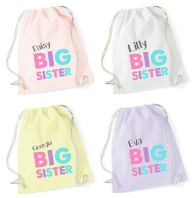 Funny Printed Customised Bag School PE Personalised I/'m The Big Brother Gymsac