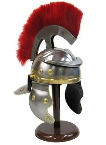 Roman-Centurion-Helmet-Officer-039-s-Helmet-with-Red-Plume