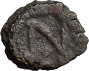 LEO-I-457AD-Rare-Authentic-Ancient-Roman-Coin-w-MONOGRAM-i20603