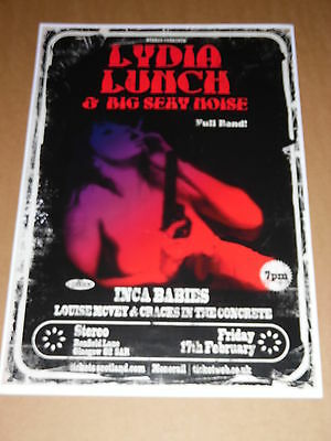 LYDIA LUNCH - rare tour concert / gig poster