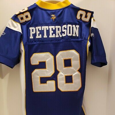 Adrian Peterson Minnesota Vikings REEBOK SEWN STITCHED Jersey YOUTH MEDIUM   eBay