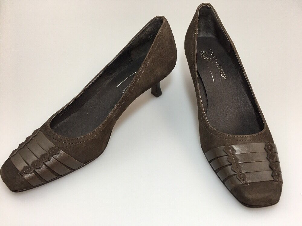 Donald J Pliner Suede Pumps Brown Size 7.5  N Sanch12-02