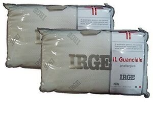 Cuscini Irge.2 Pezzi Guanciale Cuscino Irge Anallergico Igienico Made In Italy