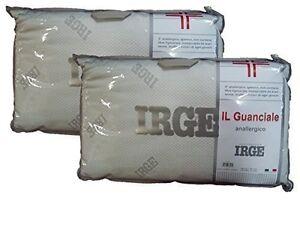 Irge Cuscini.2 Pezzi Guanciale Cuscino Irge Anallergico Igienico Made In Italy