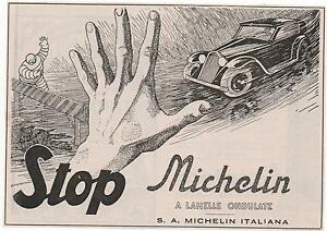 Pubblicita-epoca-1938-MICHELIN-PNEUMATICI-AUTO-advert-werbung-publicite-reklame