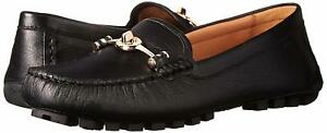 New-COACH-Arlene-Turnlock-Black-Driver-Moccasins-Loafers-Shoes-Size-6-10