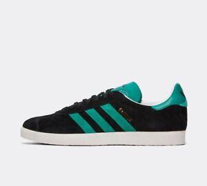 Scarpa-da-ginnastica-Adidas-Originals-Gazzella-Core-Cristallo-Nero-Bianco-Verde-Ghiacciaio