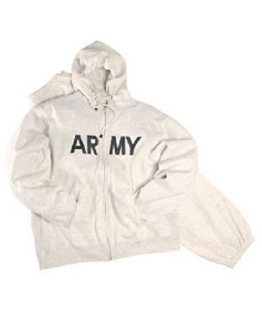 US Sport Tuta PFT Army Sportswear Pantaloni Jogging Cappuccio shirt PANTS grigio GRIGIO