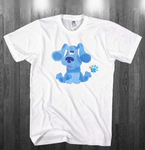 Blue/'s Clues T-shirt Blue spotted dog Birthday party gift Adult Kids size shirts