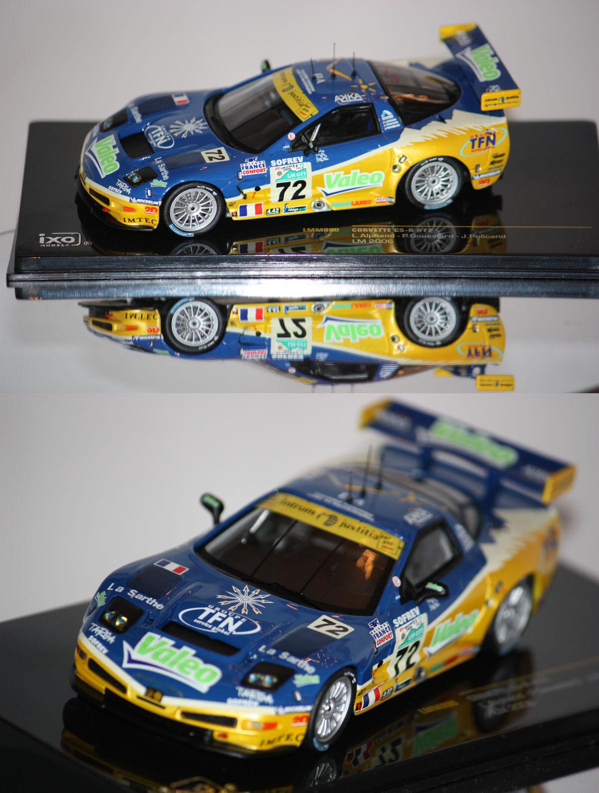 Ixo Corvette C5-R 24h du Mans Mans Mans 2006 L. Alphand 1 43 LMM090 5c8307