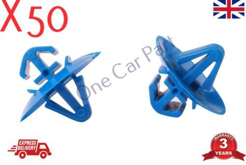 50X DOOR TRIM BUMPER CLIP PLASTIC SIDE MOULDING CLIPS FOR FIAT IVECO VAN Blue