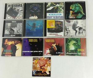 Satz-von-13-CD-Nirvana-Singles-Lives-Alben-Promos-Et-Tracking