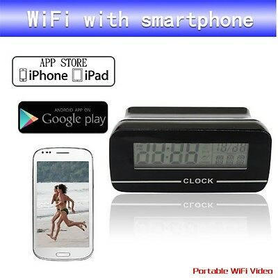 ANDROID/IPHONE VIDEO APP WiFi SPY CAMERA CLOCK record & watch on any smartphone