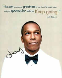 Leslie Odom Jr. Signed Autographed 8X10 Photo Hamilton Actor Singer JSA JJ41136