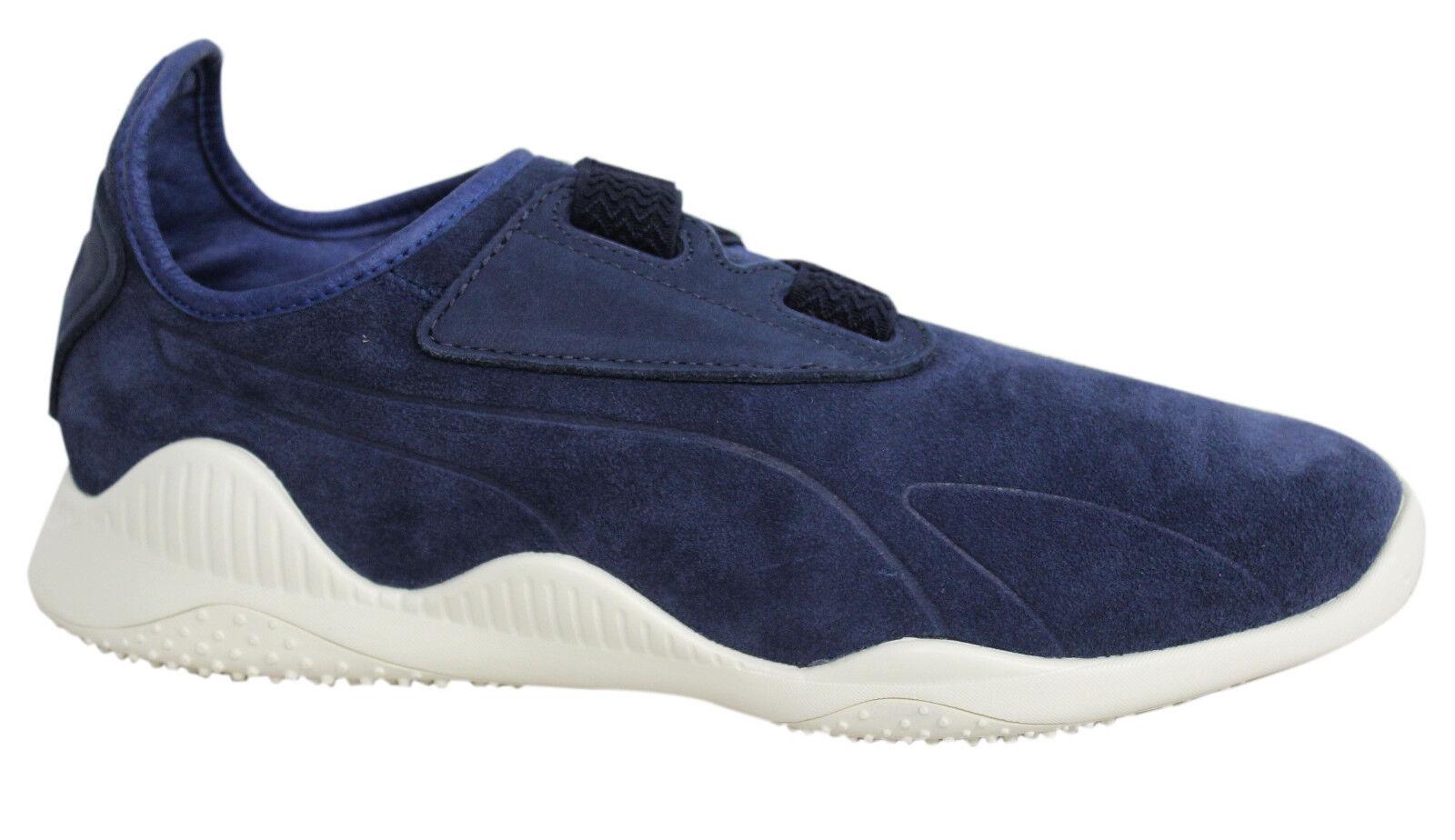 Zapatos de mujer baratos zapatos de mujer Puma Mostro Gamuza Cuero De Correa Azul Marino para Hombre Tenis 363450 01 U64
