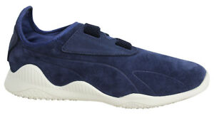 tout neuf 8880d fa152 Details about Puma Mostro Navy Strap Up Leather Suede Mens Trainers 363450  01 U64