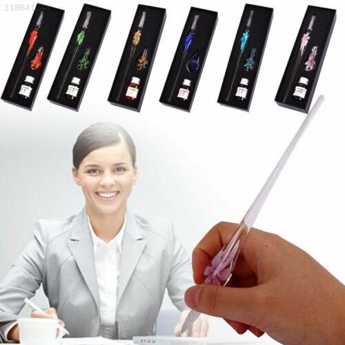 6B9A Glas Unterschrift Stift Glas Dip Pen Füllfederhalter Kreide Schreibwaren