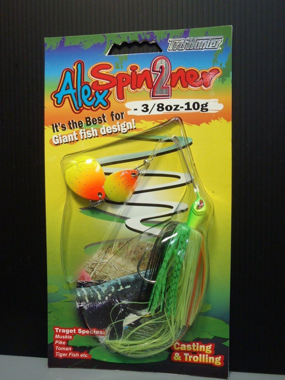 1pk Pro-Hunter Alex Spin3 Spinner Bass Perch Fishing Lure 1oz 28g