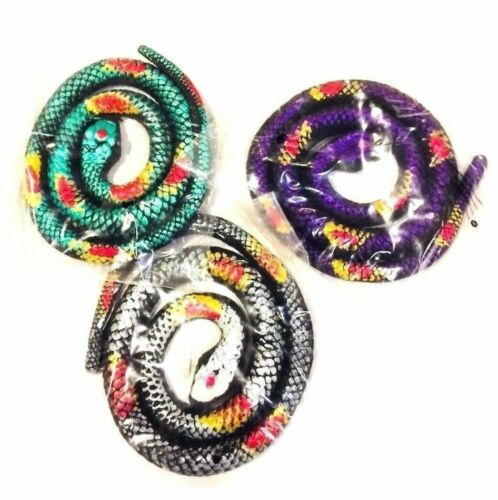 Creepsterz Snake 70cm Stretchy Toy Metallic Coloured Rubber Snake Joke And Gags