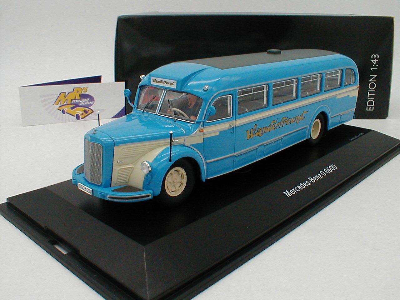 Schuco 02748-Mercedes Benz O 6600 AUTOCAR  wanderfreunde  M. conducteur 1 43
