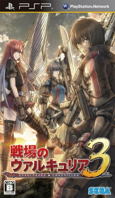 PSP Valkyria Chronicles III 3 Unrecorded chronicles Japan Import Official F/S