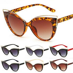 Vintage-Womens-Retro-Cat-Eye-Sunglasses-Fashion-Eyewear-Shades-Flat-Top-Glasses