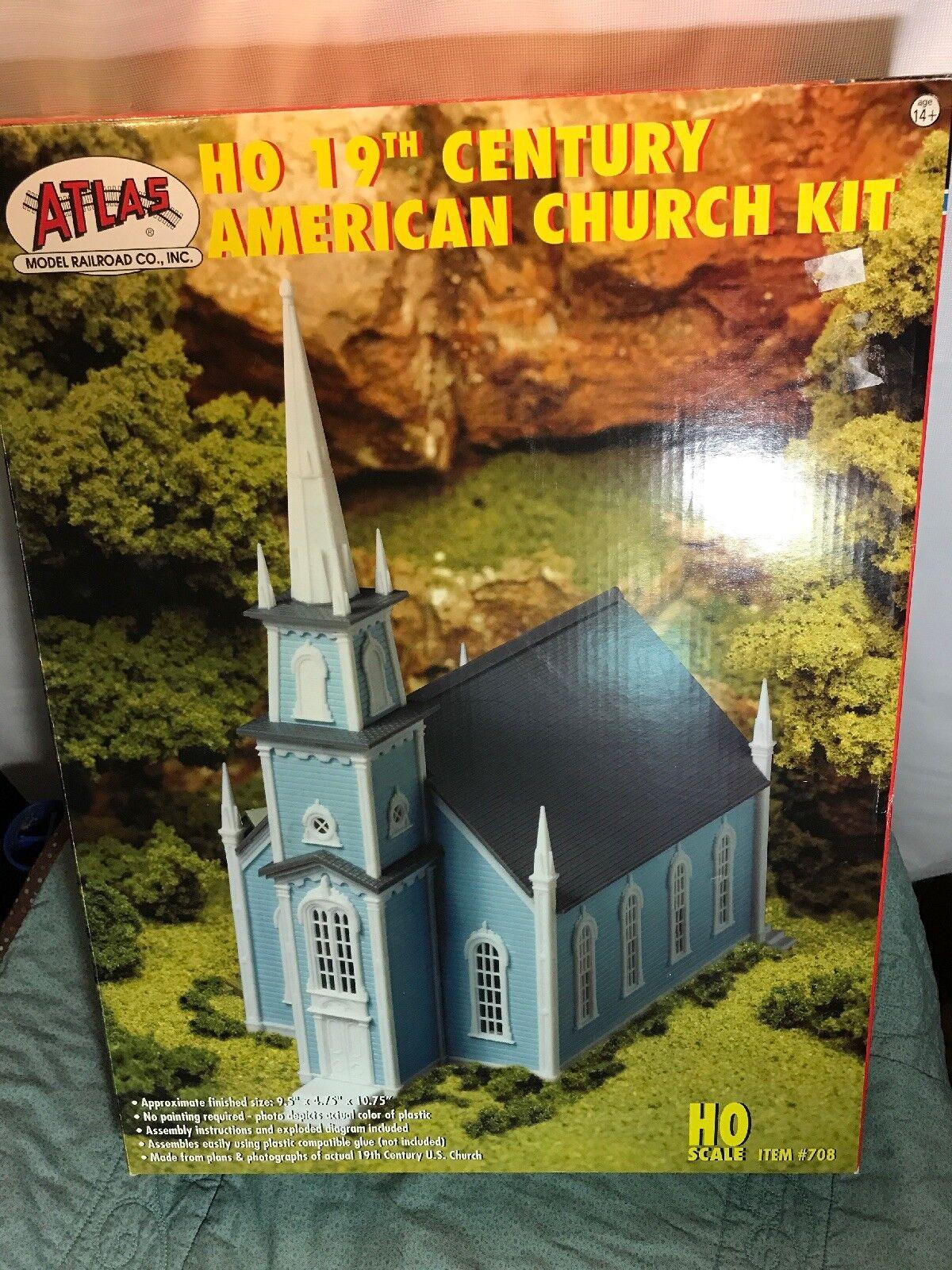Atlas   708 Ho Kit 19th Century Iglesia Americano Nuevo  muy bonito  (NOB)