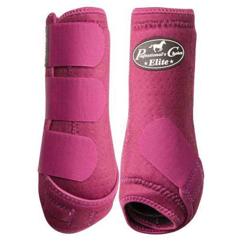 Professional's Choice VenTECH Elite Sports Medicine FRONT Boots WINE Burgandy