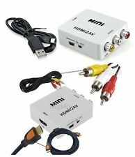 Compact Mini HD HDMI to AV Video Converter PAL/NTSC Composite RCA CVBS TV PC