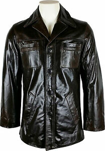 Brown Smart Mens Real Leather 3z Unicorn Jacket x8wH7Xq7O