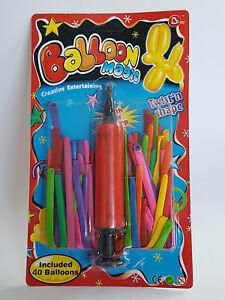 Ballon-Magic-Modellierballons-Luftballons-mit-Pumpe-NEU-Ballon-Tiere-Anleitung