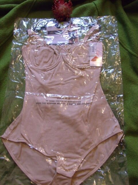 AM BNWOT Matalan Shapewear black or nude Control Lace Trim Cup Bodysuit Body
