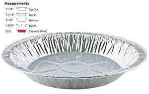 Handi Foil 8 Quot Extra Deep Aluminum Foil Pie Pan Disposable