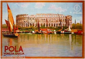 Pola Venezia Italy Vintage European Travel Advertisement Poster Picture Print