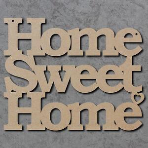 Image Is Loading Home Sweet Sign Wooden Laser Cut Mdf